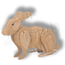 Hase 3D Holzpuzzle ab 3,38 EUR